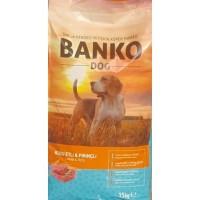BANKO DOG KUZU ETLİ VE PİRİNÇLİ 15 KG YETİŞKİN KÖPEK MAMASI