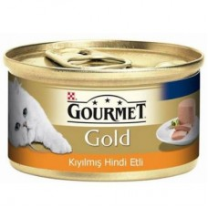 GOURMET GOLD KIYILMIŞ HİNDİ ETLİ KEDİ KONSERVESİ 85 GR