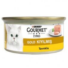 GOURMET GOLD KIYILMIŞ TAVUKLU KONSERVE KEDİ MAMASI 85 GR
