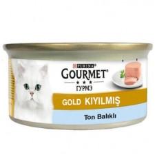 GOURMET GOLD KIYILMIŞ TON BALIKLI KEDİ KONSERVESİ 85 GR